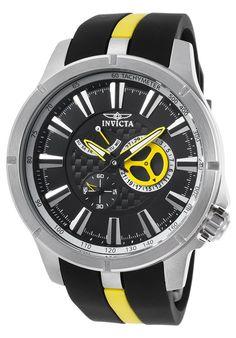 Invicta Watches Men's S1 Rally Black and Yellow Polyurethane Black Dial 20332SYB,    #Invicta,    #20332SYB,    #Sport