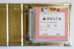 Portland Mini Album - The little airport code letters!