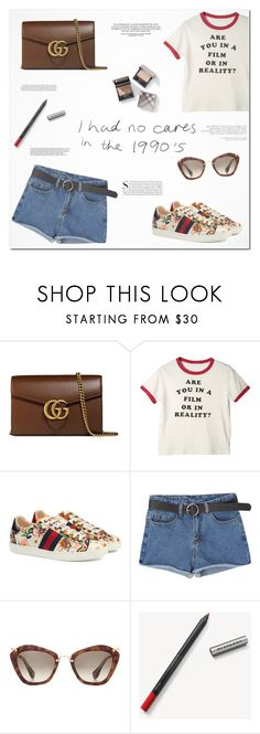 """""""We don't have to grow up, we can stay forever young."""" by kristinadyomina ❤ liked on Polyvore featuring Gucci, Miu Miu, Burberry, Kershaw and vintage"""