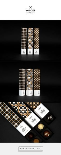 Vosges on Behance by Kajsa Klaesén curated by Packaging Diva PD. Your eyes may get a little crossed looking at this chocolate packaging but the patterns are nice.