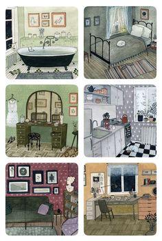 yelena bryksenkova on buy some damn art! Guache, Interior Sketch, Children's Book Illustration, Art Inspo, Amazing Art, Illustrators, Cool Art, Concept Art, Street Art
