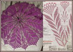 Crochet Umbrellas Archives - Beautiful Crochet Patterns and Knitting Patterns Mandala Au Crochet, Crochet Motifs, Crochet Chart, Thread Crochet, Filet Crochet, Crochet Doilies, Crochet Stitches, Knit Crochet, Crochet Round