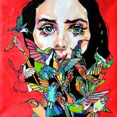 """Sza! 80/80 cm, oil on canvas"" By ""Dominik Jasiński"""