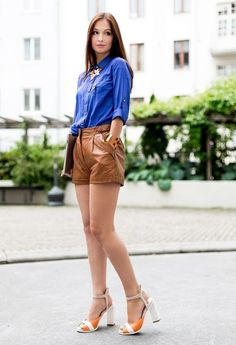 Leather shorts by Pepe Jeans