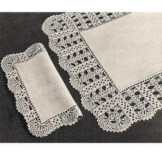 Crocheted Trimmed Luncheon Set Pattern