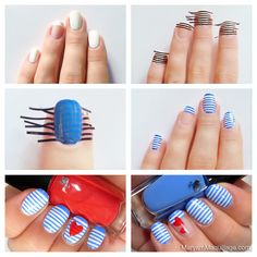Cool+Ways+to+Paint+Nails | striped nails how to tutorial How to Make Stripes Nail Design