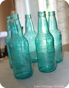 Lake Cottage Dreams: DIY Tinted Bottles Tutorial
