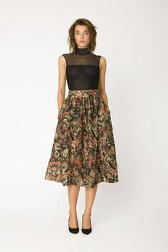 City Hall Lace Skirt, Camel