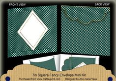 Peacock Dotty Diamond 7x7inch Easy Envelope Mini Kit on Craftsuprint - Add To Basket!