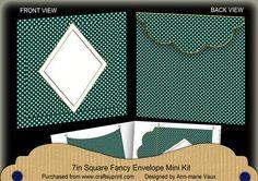 Peacock Dotty Diamond 7x7inch Easy Envelope Mini Kit on Craftsuprint - Add To Basket!
