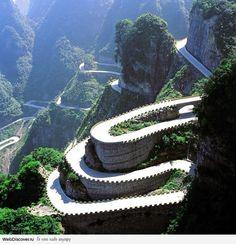 Switchbacks - Tianmen Mountain National Park, Zhangjiajie, China