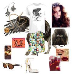 """""""Griffin girl"""" by herm10ne-ruby on Polyvore featuring interior, interiors, interior design, home, home decor, interior decorating, Charlotte Olympia, Lime Crime and Anna-Karin Karlsson"""