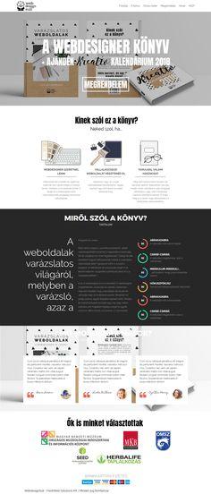 Webdesign - weboldal a Varázslatos Weboldalak című könyvhöz.