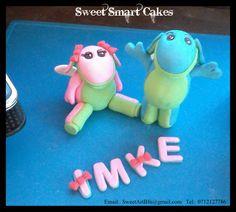 Fondant Lollos & Lettie (Bloemfontein, ZA) Fondant Figures, Cupcake Toppers, Cake Decorating, Cakes, Food Cakes, Pastries, Torte, Cookies, Cake