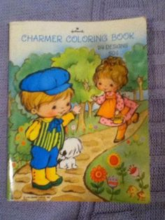 Vintage Hallmark Coloring Book Charmer Unused