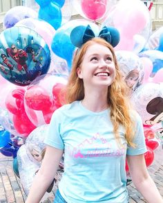 No one can be uncheered by a balloon 💙 • • • This dreamy combo is perfect for exploring any of the Disney parks (especially MK) ✨ The… Disney Parks, Be Perfect, Exploring, Balloons, Style, Swag, Globes, Balloon, Explore
