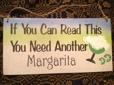 Bar sign, margarita sign, funny sign, Margaritaville on Etsy,
