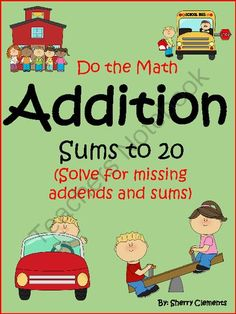 Register for this GIVEAWAY! 2 Lucky winners! $10.00 Value. Ends 08-28-14! Addition Sums to 20 (solve for missing addends and sums) - This 115 page packet includes a wide range of addition problems. Sums range from 1-20. Variety of problems provides for DIFFERENTIATION! A variety of problems are included allowing students to start with finding the missing addend to add to 1 to correctly complete the sum, and then continuing through 20 for finding the missing addends and sums.