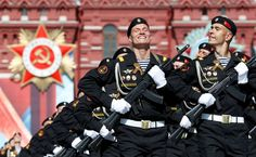 The 100 best pictures of 2016:      Russian servicemen march during the Victory Day parade marking the 71st anniversary of the victory over Nazi Germany in World War Two, at Red Square in Moscow, Russia, on May 9.