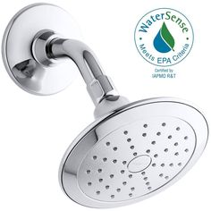 2gpm KOHLER Alteo 1-Spray 5.6875 in. Rainhead Showerhead in Polished Chrome-K-5240-CP - The Home Depot