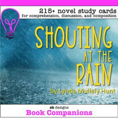 Shouting at the Rain Hunt Novel Study Discuss, Write - Class & Distance Learning Fourth Grade, Third Grade, Teaching Resources, Teaching Ideas, Science Cells, Literary Elements, Overcoming Adversity, Literature Circles, Student Reading