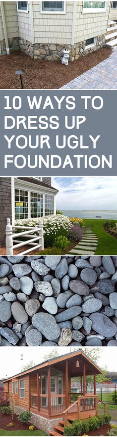 Ugly foundation, DIY home improvement, home improvement projects, hide your ugly foundation, popular pin, easy home improvement, landscaping hacks.