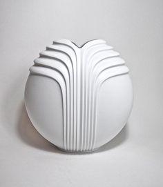 70's West German White Porcelain Vase by von LightTheGlitteryMoon, $150.00
