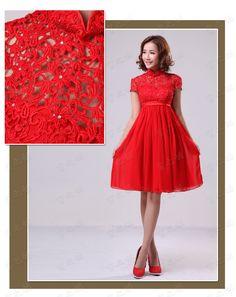 2013 new wedding dress toast dress wedding dress evening dress cheongsam A007 pregnant from taobao $32