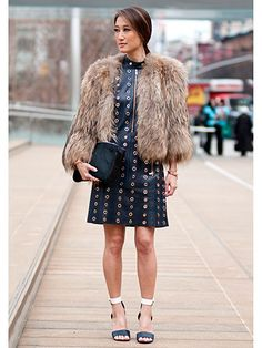 Day 7 Street Style at New York Fashion Week Dress by Michael Kors