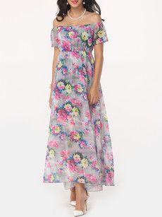 Fashionmia plus size maxi dresses with short sleeves - Fashionmia.com