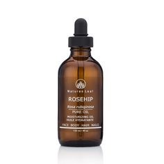 Natures Leaf - Organic Rosehip Oil 100% Pure / Cold Pressed / Unrefined / non-GMO / Omegas - 3 & 6 / Vitamins A, C, E & F / Anti Aging / Face, Skin & Hair / Stretch Marks / Scars / Wrinkles & Fine Lines / Skin Burns / Itchy Scalp / Dry Skin / Aged Spots  4oz 18.95