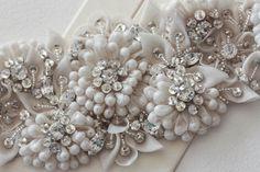Hand-beaded Bridal Sash  - GIGILIO 28LX 2W