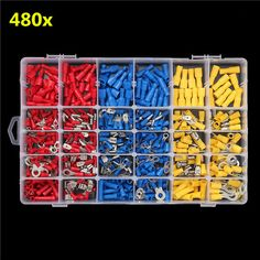 Excellway® EC09 480Pcs Insulated Electrical Wire Terminals Crimp Connector