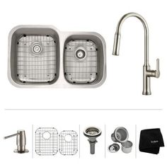KRAUS All-in-One Undermount Stainless Steel 32 in. Single Bowl Kitchen Sink with Faucet in Stainless Steel-KHU100-32-1630-42SS - The Home Depot