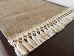 "Burlap Table Runner 18"". Choose your length  (MadeInBurlap)"
