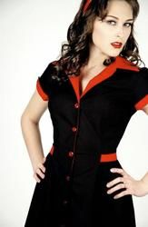 HEARTBREAKER DINER FIFTIES DRESS RETRO DRESS