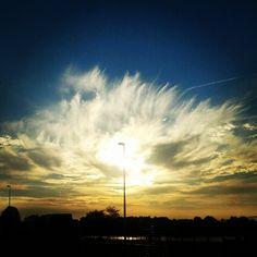 """@Sabine Schönberg's photo: """"Abendhimmel über Rendsburg."""""""