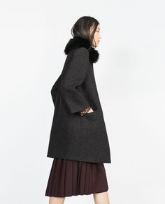 Image 2 of CAPE SLEEVE COAT from Zara