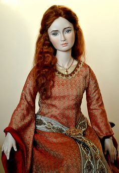 """porcelain dolls on the poem by Tennyson's """"Lady of Shallot"""""""