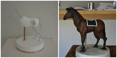 Cake decoration: Horse made by Sweet Ruby Cakes