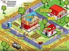 Нормы строительства и размещения посадок на земельном участке