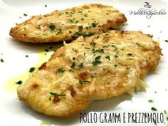 grana chicken and parsley Beef Recipes For Dinner, Meat Recipes, Chicken Recipes, Cooking Recipes, Pollo Chicken, Parmesan, Dinner With Ground Beef, Yum Yum Chicken, My Favorite Food