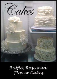Big Flowers Wedding Cake | Little Delights Cakes
