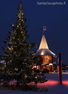 Christmas house in Santa Claus village