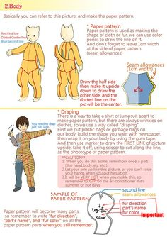 sparkpanda:  omnipotent-pie:  How to make a Japanese-style fursuit (part one) Source: http://www.pixiv.net/member_illust.php?mode=medium&illust_id=33140652  For reference!  Holy Crap Oo