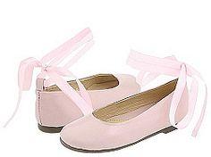 Pazitos Pink Ballet Flats With Ribbon Ties