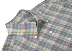 Luxire dress shirt constructed in Summer Light Chambray Subtle Brown Blue Yellow Checks Madras They are good for summer and never out of style: http://custom.luxire.com/products/cotton-subtle-brown-blue-yellow-checks-bh_ypv_80096y01_ch  The shirt consists of button down collar, 1-button cuffs.