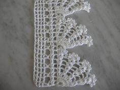 This Pin was discovered by Ayş Crochet Pincushion, Crochet Dollies, Crochet Lace Edging, Crochet Borders, Crochet Art, Crochet Squares, Cute Crochet, Crochet Flowers, Crochet Stitches