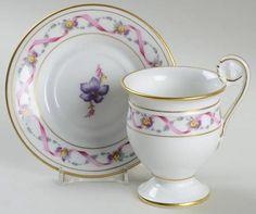 Rapallo Demitasse Cup and Saucer   Richard Ginori 1735