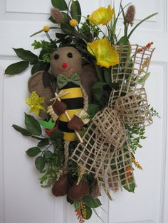 BEE SWAG Spring Summer Garden Mothers Day Floral by funflorals, $90.00